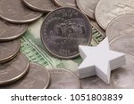a quarter of indiana  quarters... | Shutterstock . vector #1051803839