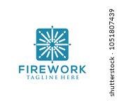firework logo design   Shutterstock .eps vector #1051807439