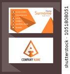 business card stylish orange...   Shutterstock .eps vector #1051808051