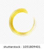 gold foil brush stroke. sparkle ... | Shutterstock .eps vector #1051809401