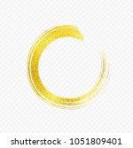 gold foil brush stroke. sparkle ... | Shutterstock .eps vector #1051809401