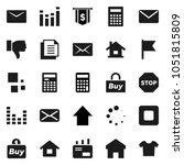 flat vector icon set  ... | Shutterstock .eps vector #1051815809