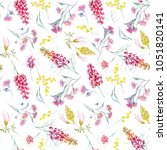 watercolor tropical pattern... | Shutterstock . vector #1051820141