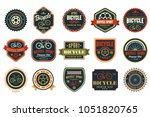 set of vintage bicycle logos.... | Shutterstock .eps vector #1051820765