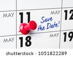 wall calendar with a red pin  ... | Shutterstock . vector #1051822289