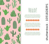 desert flowers banner or poster ...   Shutterstock .eps vector #1051828391
