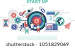 start up concept for web page ... | Shutterstock .eps vector #1051829069