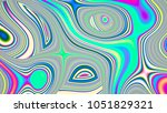abstract rainbow holographic... | Shutterstock . vector #1051829321