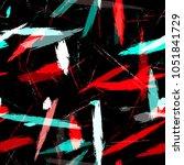 dry brush grunge strokes and... | Shutterstock .eps vector #1051841729