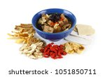 chinese food   clear soup with... | Shutterstock . vector #1051850711