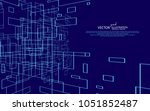 the abstract figure of the... | Shutterstock .eps vector #1051852487