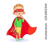 vector funny little boy with... | Shutterstock .eps vector #1051852544