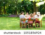 meeting of multicultural group... | Shutterstock . vector #1051856924