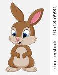 cute rabbit cartoon isolated on ... | Shutterstock .eps vector #1051859981