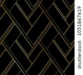 luxury black and gold geometric ... | Shutterstock .eps vector #1051867619