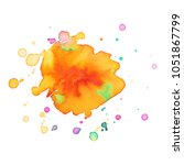 abstract isolated colorful... | Shutterstock .eps vector #1051867799