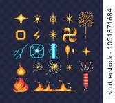 fx light effects energy symbols ... | Shutterstock .eps vector #1051871684