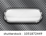 white button on perforated... | Shutterstock .eps vector #1051872449