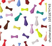 seamless pattern of ties and... | Shutterstock .eps vector #1051879745