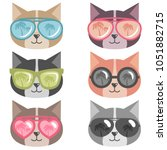 cats with sunglasses | Shutterstock .eps vector #1051882715