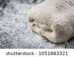 dough on natural rye ferment.... | Shutterstock . vector #1051883321
