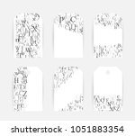 letters. english alphabet... | Shutterstock .eps vector #1051883354