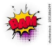 bam boom bang hand drawn... | Shutterstock .eps vector #1051886099