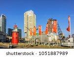rotterdam  the netherlands  ... | Shutterstock . vector #1051887989