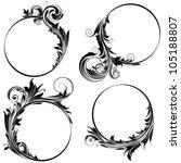 circle floral design   Shutterstock .eps vector #105188807