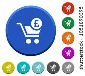 checkout with pound cart round... | Shutterstock .eps vector #1051890395