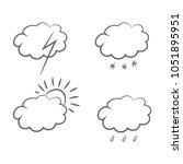 weather forecast icons. vector.