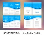 fisher brochure design template ... | Shutterstock .eps vector #1051897181