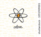 cute hand drawn atom on... | Shutterstock .eps vector #1051909001