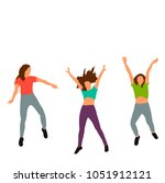 isolated  flat style girls... | Shutterstock .eps vector #1051912121