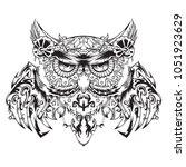 robotic owl  mechanical owl ...   Shutterstock .eps vector #1051923629