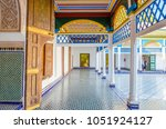 Courtyard At El Bahia Palace ...