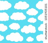 white cloud sky seamless... | Shutterstock .eps vector #1051935101