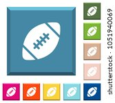 rugby ball white icons on edged ... | Shutterstock .eps vector #1051940069