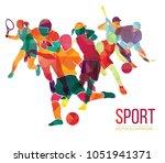 color sport background.... | Shutterstock .eps vector #1051941371