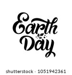 earth day handwritten lettering.... | Shutterstock .eps vector #1051942361