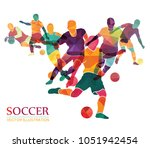 football  soccer  colorful... | Shutterstock .eps vector #1051942454