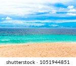 beach tide splashing  | Shutterstock . vector #1051944851