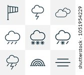climate icons line style set... | Shutterstock .eps vector #1051954229