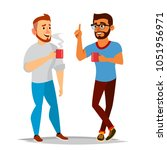 talking men vector. laughing... | Shutterstock .eps vector #1051956971