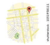 gps map marker pin | Shutterstock .eps vector #1051958111