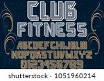 font alphabet typeface...   Shutterstock .eps vector #1051960214