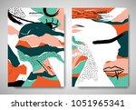 cover  invitation card template ... | Shutterstock .eps vector #1051965341