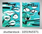 cover  invitation card template ... | Shutterstock .eps vector #1051965371