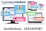 customer review page on... | Shutterstock . vector #1051969487