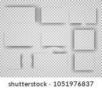 vector shadows isolated. page... | Shutterstock .eps vector #1051976837